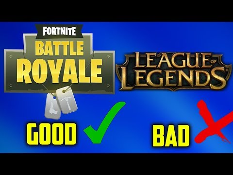My FORTNITE Videos are 1,000,000 times better than my LEAGUE OF LEGENDS videos