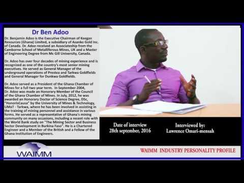 Meet Board Chairman Dr Ben Adoo, Asanko Gold Inc., Ghana