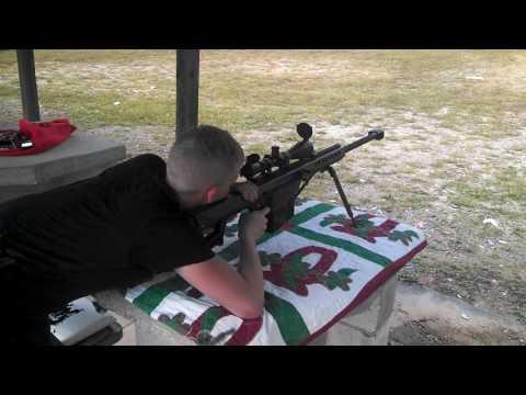 Kye on the 50 Caliber Barrett