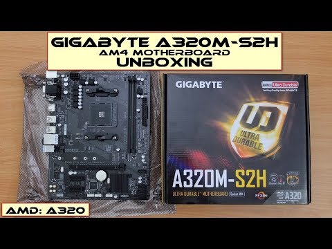Gigabyte GA-A320M-S2H Motherboard: Unboxing
