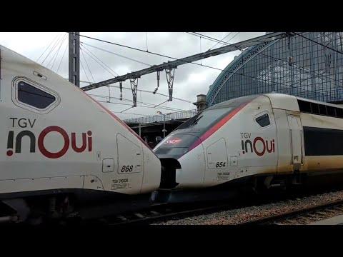 TGV Trains I Bordeaux Saint Jean Station