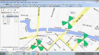 Drawing route for driving test by Mapinfo