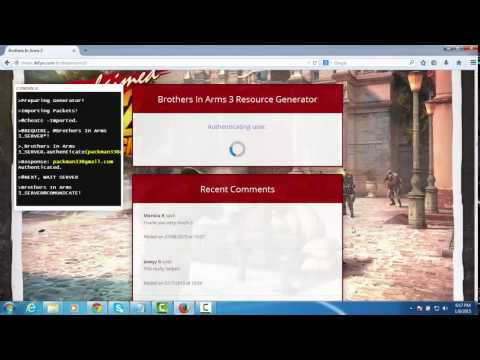 How to Hack Brothers in Arms 3  Tutorial and website for cheats