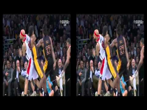 03 21 2014   Wizards vs  Lakers   Drew Gooden Tries To Rip Nick Young's Arm Off3D720p H 264 AAC