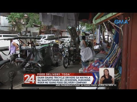 24 Oras: Manila tricycle drivers to start working as food delivery riders