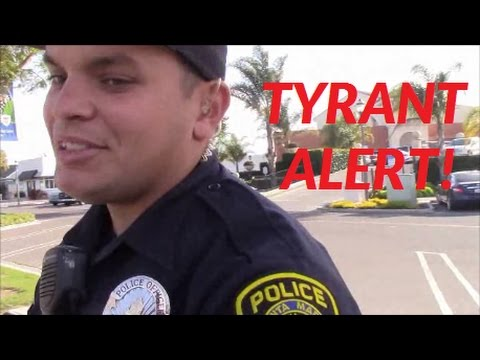 1st Amendment Audit, TYRANT ALERT!: Illegally Detained And Searched By Santa Maria Police