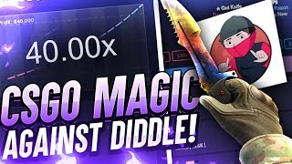 BETTING FOR A TWEET VS DIDDLE (CSGO MAGIC BETTING AGAINST YOUTUBERS EPISODE 1)