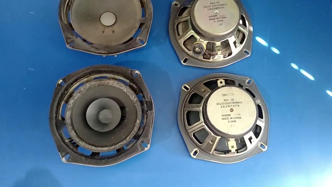 96 chevy astro van speaker upgrade alpine sxe 1725s [ 1280 x 720 Pixel ]