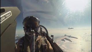 挑戰新聞軍事精華版--美荷兩國戰機模擬空戰廝殺,「F-16 A/B 」VS.「F-15」勝負難分