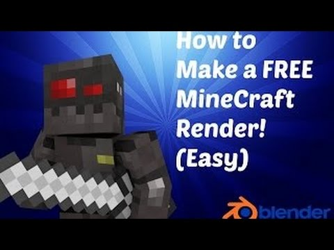How To Make A FREE And EASY Minecraft Render [With Blender]