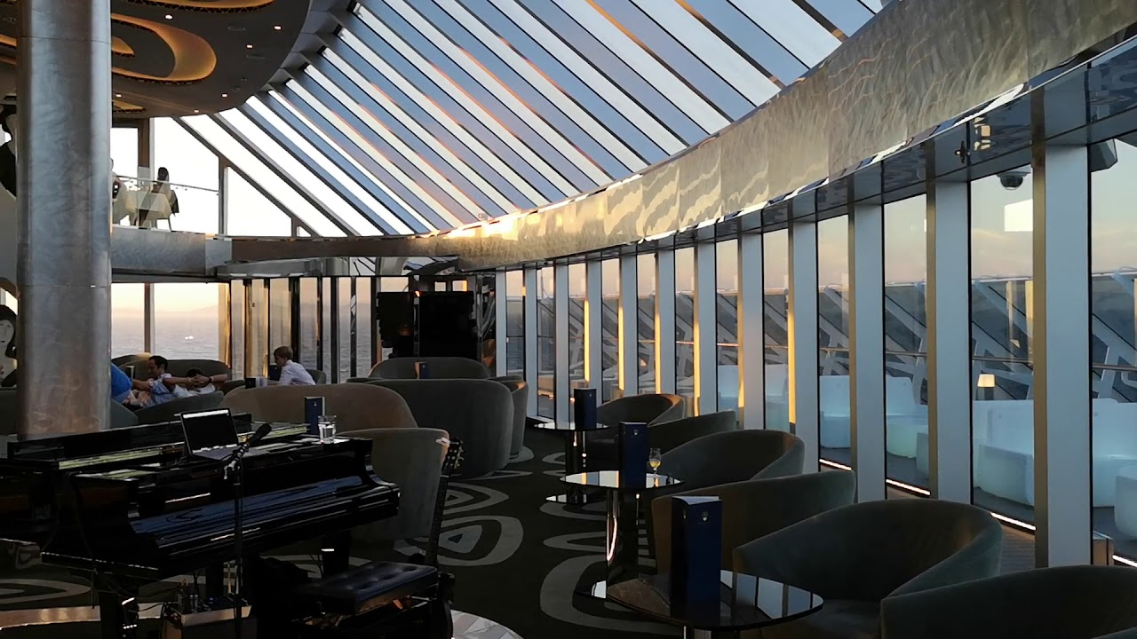 MSC Seaview, The Yacht Club Top Sail Lounge - YouTube