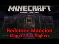 Minecraft Pocket Edition (Minecraft PE) Redstone Mansion Map Made by Mojang (1.0.6 or higher)