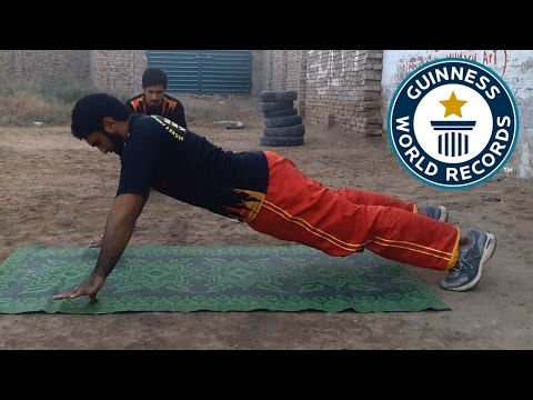 Most thumb push ups in one minute – Guinness World Records