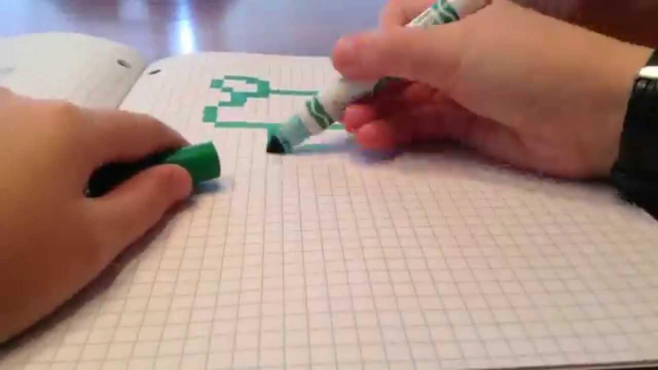 Dessiner une grenouille en pixel art youtube - Dessiner une grenouille ...