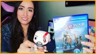 GOD OF WAR 4 UNBOXING PS4: o dia que comprei GOW4 + Funko Pop Kratos (VLOG)