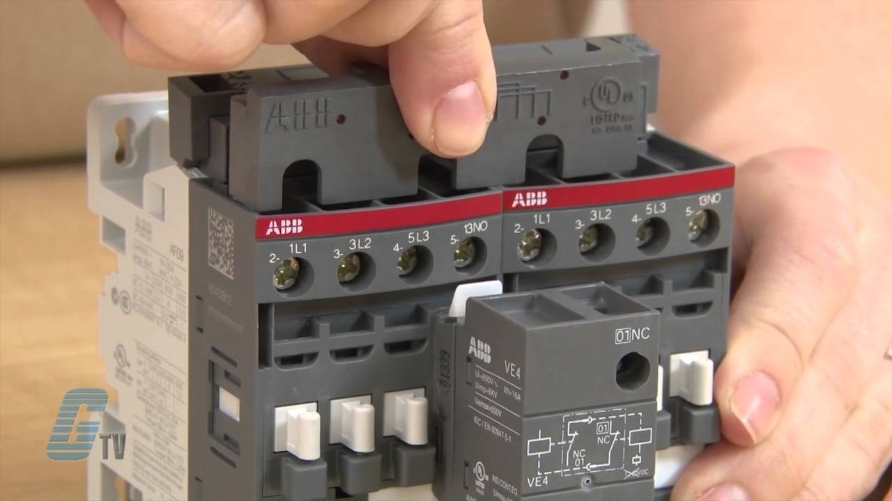 Abb Reversing Contactor Wiring Great Installation Of Diagram Accessories The Af Series Contactors A Galcotv Overview Rh Youtube Com Electrical