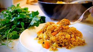 Как приготовить рис с овощами. Веган плов без мяса. Простые веганские рецепты.