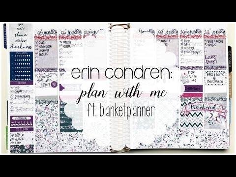 Erin Condren   Plan with Me ft. BlanketPlanner