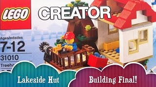 Lakeside Hut Building Part 2 Final Lego Treehouse Creator Build 3 Different Houses From 1 Lego Set
