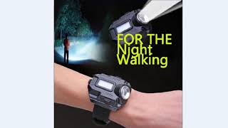 CREE XPE Q5 R2 LED Wrist Watch Flashlight Torch Light USB Charging Wrist Model Flashlight