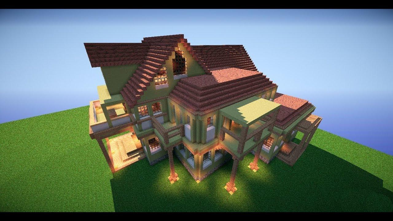 карты для майнкрафт огромный и красивый дом #3
