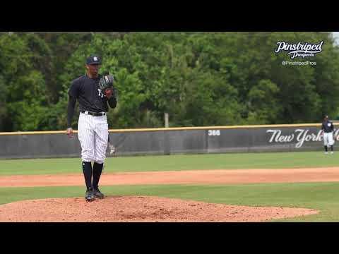Luis Medina, Right Handed Pitcher, Charleston RiverDogs, MiLB Spring Training, March 16, 4K Video