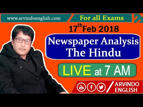 The Hindu || Daily News and Analysis || 17 Feb 2018
