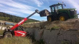 Rescue of stuck new John Deere R335!!