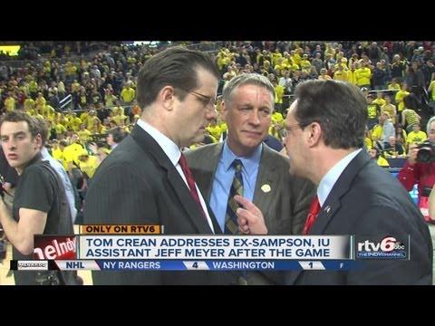 Coach Crean's heated exchange with Michigan's Jeff Meyer