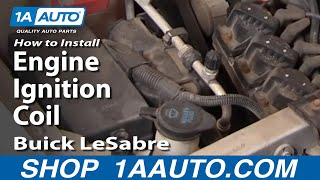 How To Install Replace Engine Ignition Coil Buick LeSabre 3800 1AAuto.com
