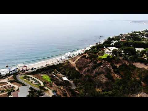 Malibu Beach California with drone 4k