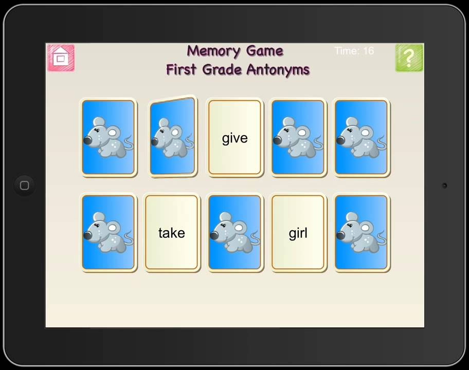 First Grade and Second Grade Antonyms and Synonyms