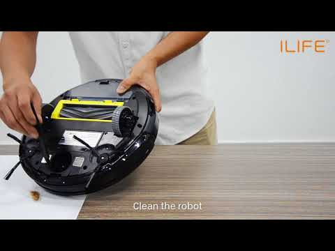 How to clean the front wheel   ILIFE A6 Robot Vacuum Cleaner