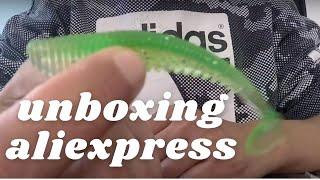 unboxing leurres et accessoires de pêche 2020  aliexpress