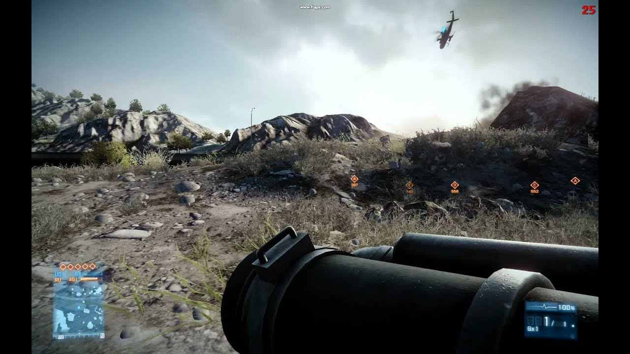 Battlefield 3 Test Using 2 BFG 8800 GT OC 512mb DDR3 SLI 1920x1200 Kharg Island