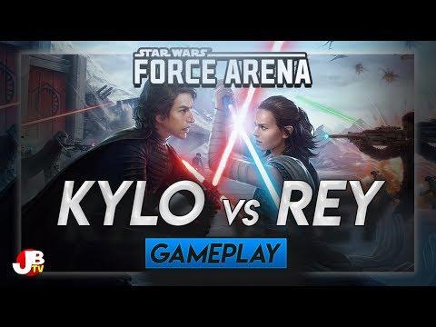 Kylo Ren vs Rey 2v2 in Star Wars: Force Arena