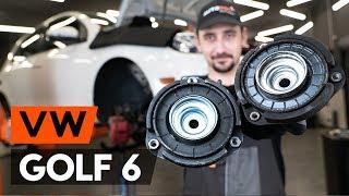 VW GOLF VI (5K1) Iskunvaimentimen yläpää vaihto - ohjevideo