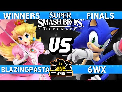 Smash Ultimate Tournament Winners Finals - 6WX (Sonic) vs BlazingPasta (Peach)  - CN:B-Airs 168