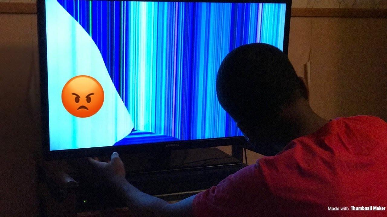 Broken tv screen prank on boyfriend gone wrong youtube - How to do the broken tv screen prank ...