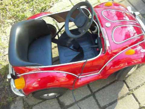 Junior Sportster's Red Retro VW Bug Battery Powered Motor FOR SALE