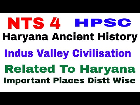 NTS 4 ! Haryana Ancient History ! Indus Valley Civilisation ! Imrtant Places in Haryana