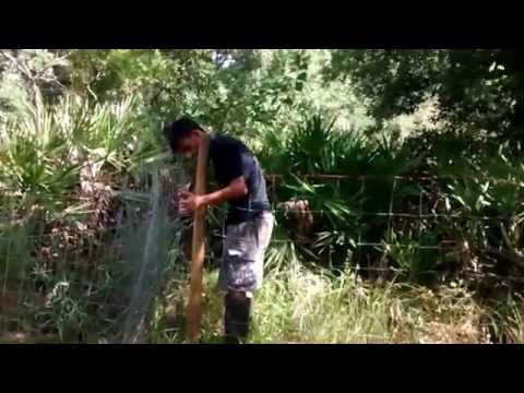 Homesteading & Homeschooling - Putting Up a Fence