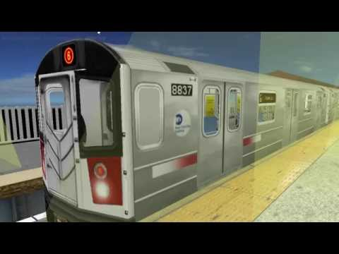 OpenBVE Simulator - NYC Subway 6 Express Train Gameplay