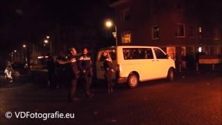 Autobanden en auto in brand - Lau Mazirellaan Den Haag - 1-1-2016 - © VDFotografie.eu