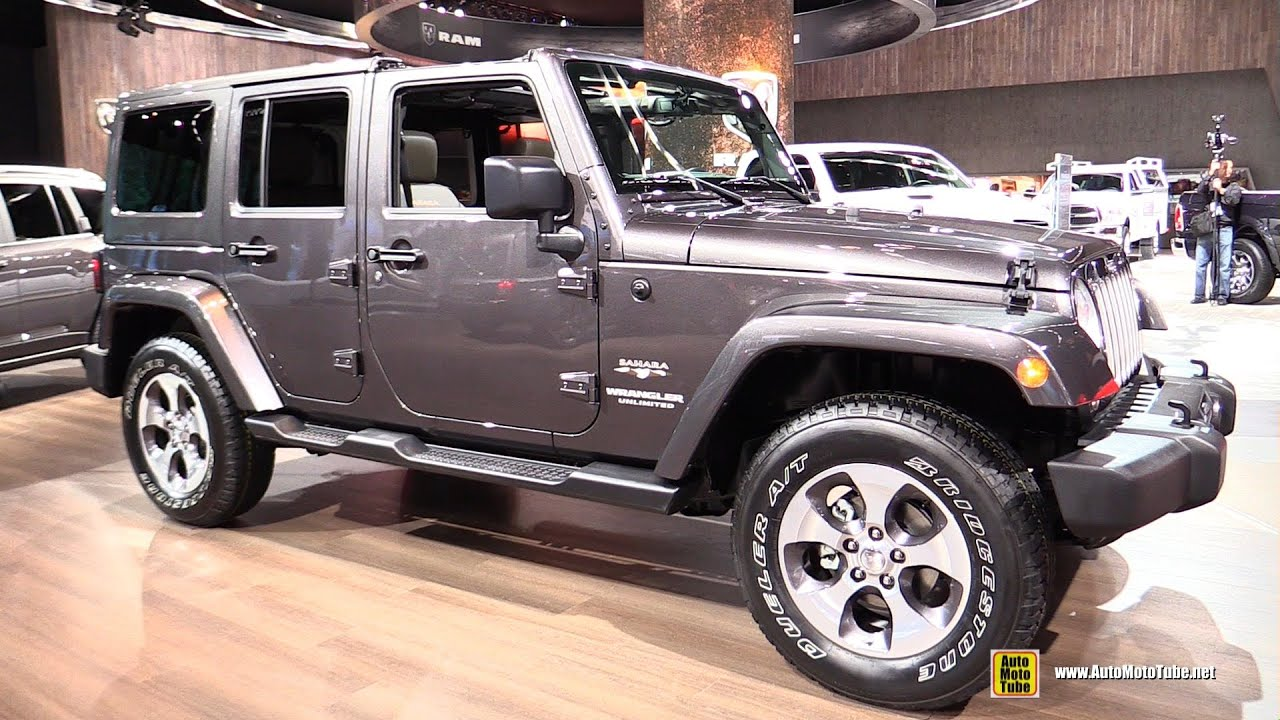2016 jeep wrangler unlimited sahara exterior and interior walkaround 2016 detroit auto show. Black Bedroom Furniture Sets. Home Design Ideas
