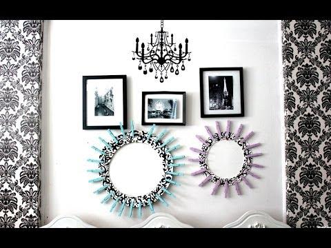 DIY Room Decor: $1 Clothespin Frame