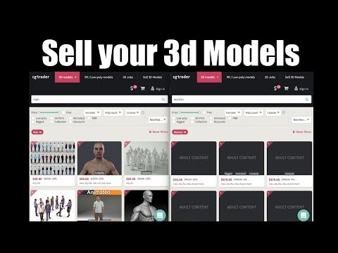 How to sell your 3d models in cg trader