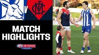 Thompson and Lewis say goodbye   North Melbourne v Melbourne Highlights   Round 23, 2019   AFL