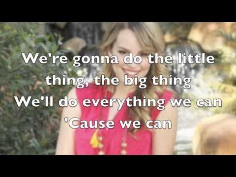 Bridgit Mendler - We Can Change The World Lyrics