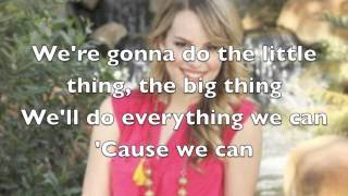 Bridgit Mendler - We Can Change The World Lyrics